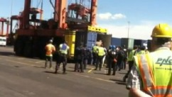 VIDEO: New Jersey port officials searched containers after reports of a faint knocking.