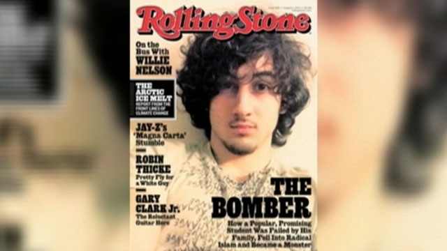 VIDEO: Online critics accuse the magazine of glamorizing alleged bomber Dzhokhar Tsarnaev.