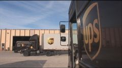 VIDEO: The shipping company is slated to deliver a historic high of 34 million packages today, in the final crunch before Christmas.