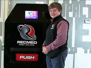 Watch:  14-Year-Old Raises $100K to Create First-Aid Vending Machine