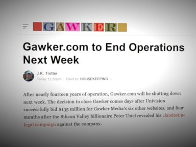 WATCH:  Devastated by Lawsuit, Gawker.com to Shut Down After 14 Years