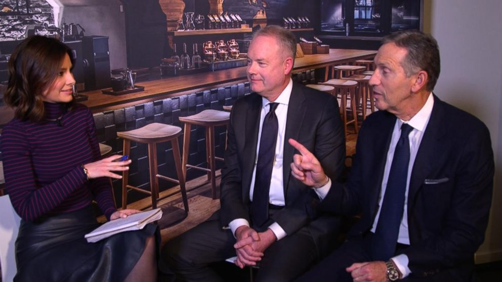 VIDEO: Starbucks CEO and Future CEO Talk New Business Direction