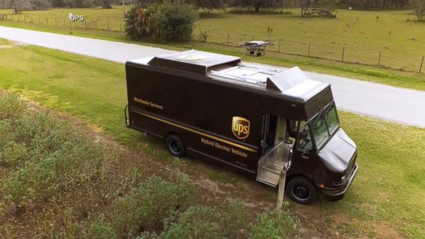 VIDEO: The package delivery company equipped the trucks with rooftop battery chargers.
