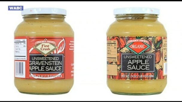 It said the recall affected all codes of Trader Joe's First Crush Unsweetened Gravenstein Apple Sauce through