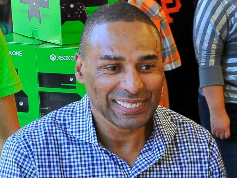PHOTO: Roger Craig coaches consumers on Xbox One title Forza Motorsport 5, Nov. 24, 2013 to celebrate the launch of Xbox One in Palo Alto, Calif.