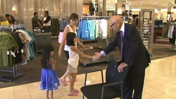 ABC KABC nordstrom greeter jef 130715 16x9 608 99 Year Old California Man Is Nordstroms Only Greeter