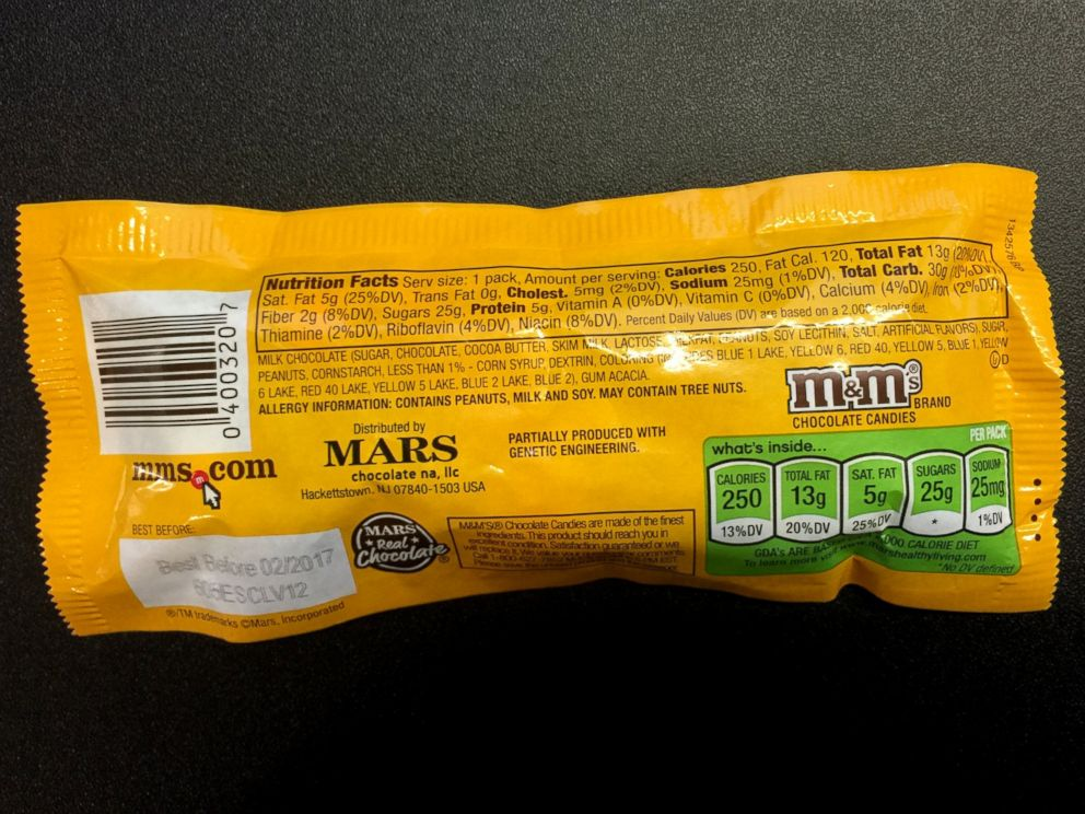 PHOTO: Package of M&Ms peanut, March 22, 2016.