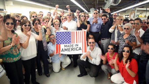 ABC made in america aviators sk 140903 16x9 608 Popular US Eyewear Brand Sees Business Booming