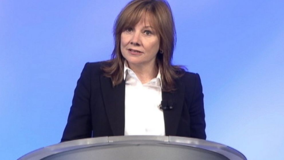 PHOTO: Mary Barra, CEO of General Motors, holds a press conference, June 5, 2014.