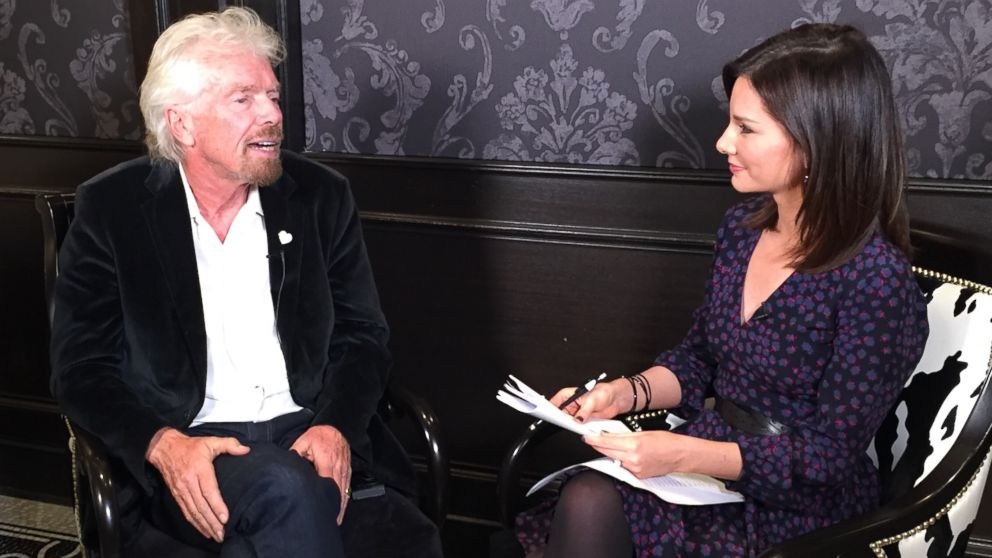 PHOTO: Sir Richard Branson joins Rebecca Jarvis for an episode of