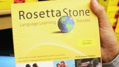 PHOTO: The International Property Rights Center in Washington D.C. seizes fake products, like this language-learning tool Rosetta Stone made in China, not the US, from store shelves and Internet sites across the country.