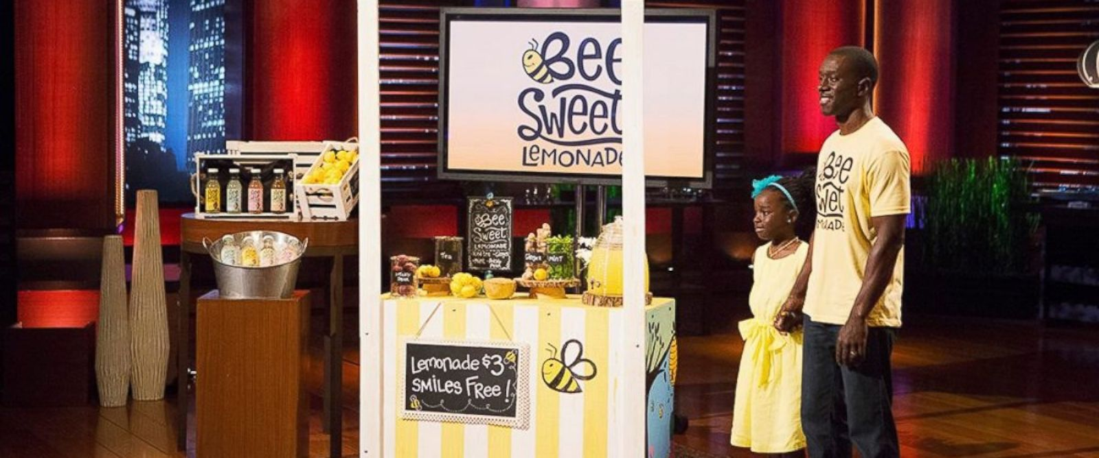 PHOTO: Nine-year old Mikaila Ulmer and her father, Theo, are seen on Week 22 of season 6 of Shark Tank.
