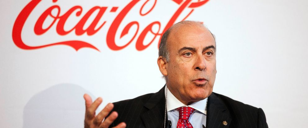 PHOTO: Coca-Cola CEO Muhtar Kent speaks at an event where the company announced it will work to make lower-calorie drinks and clear nutrition information more widely available around the world in this May 8, 2013, file photo.
