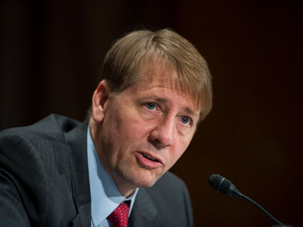 PHOTO: In this file photo, Consumer Financial Protection Bureau Director Richard Cordray testifies during the Senate Banking, Housing and Urban Affairs Committee hearing on the CFPBs semi-annual report to Congress, July 15, 2015.