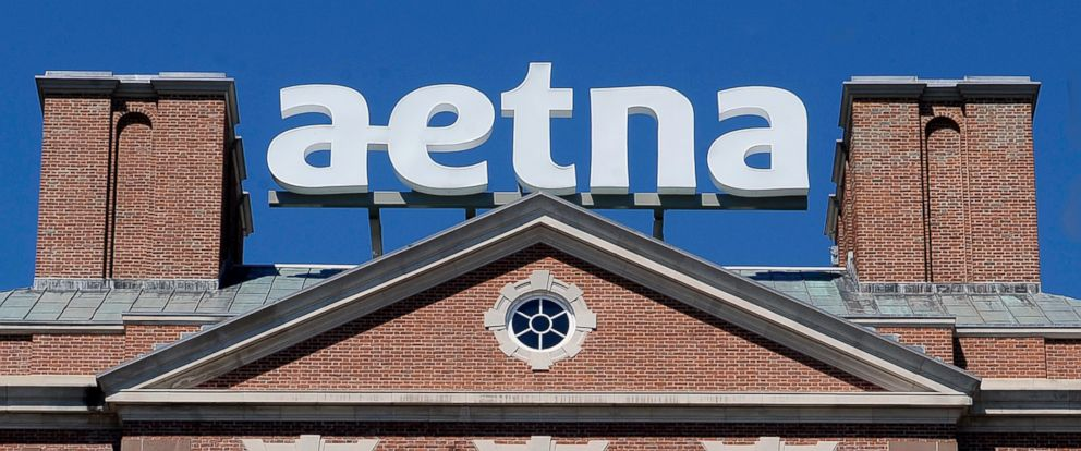 PHOTO: A sign stands at Aetna headquarters in Hartford, Conn., in this 2014 file photo.