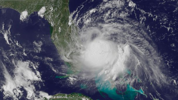 PHOTO: This satellite image released by the National Oceanic and Atmospheric Administration shows the center of Tropical Storm Arthur off the east coast of Fla. on July 1, 2014.