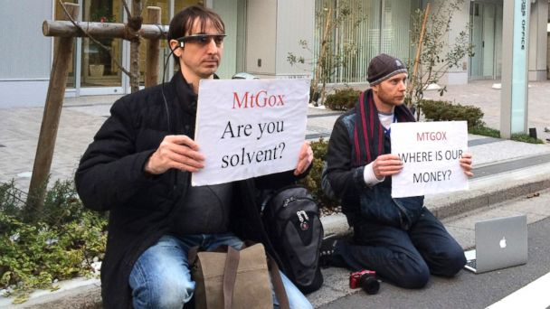AP bitcoin japan protest 2 sk 140226 16x9 608 What the Heck Is Up With Mt. Gox, Bitcoin?