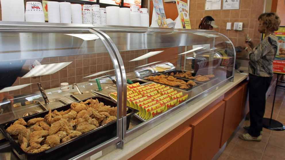 PHOTO: A customer places her order at a Bojangles restaurant in Charlotte, N.C., Tuesday, Aug. 7, 2007.