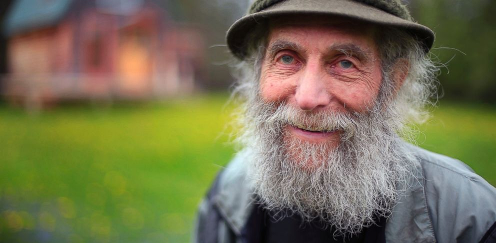 PHOTO: Burt Shavitz poses on his property in Parkman, Maine on May 23, 2014.