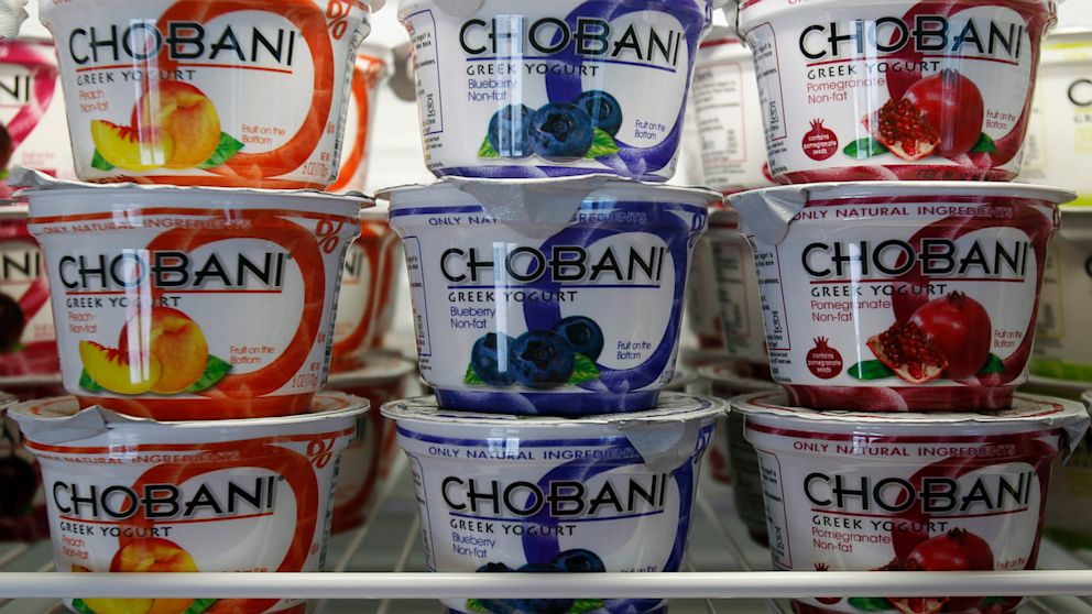 PHOTO: Chobani Greek Yogurt is seen at the Chobani plant in South Edmeston, N.Y., Jan. 13, 2013.