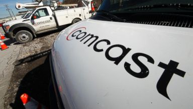 PHOTO: Comcast installation trucks are seen in Pittsburgh in this file photo, Feb. 15, 2011.