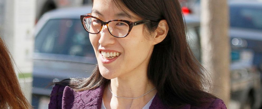 PHOTO: Ellen Pao leaves the Civic Center Courthouse in San Francisco, Feb. 24, 2015.