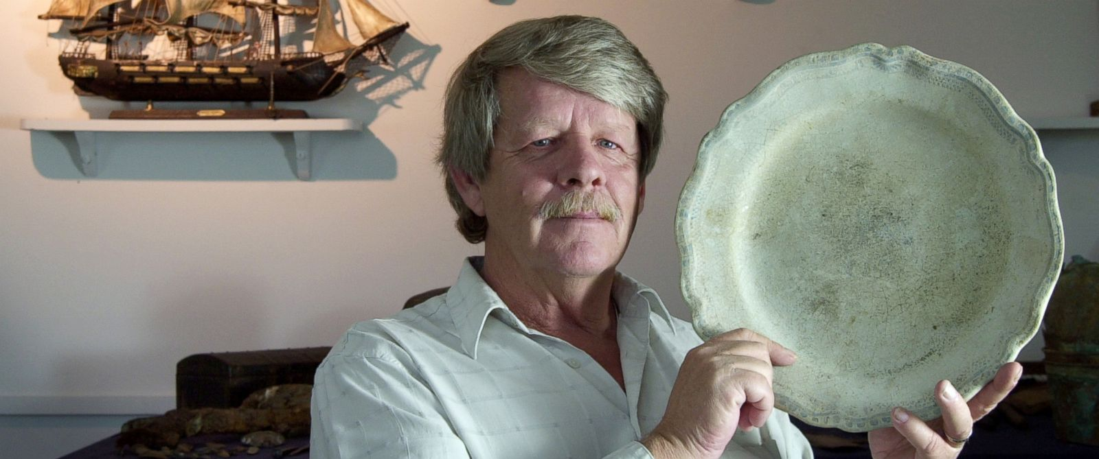 PHOTO: In this file photo, treasure hunter Greg Brooks is pictured on March 25, 2004 in Portland, Maine.