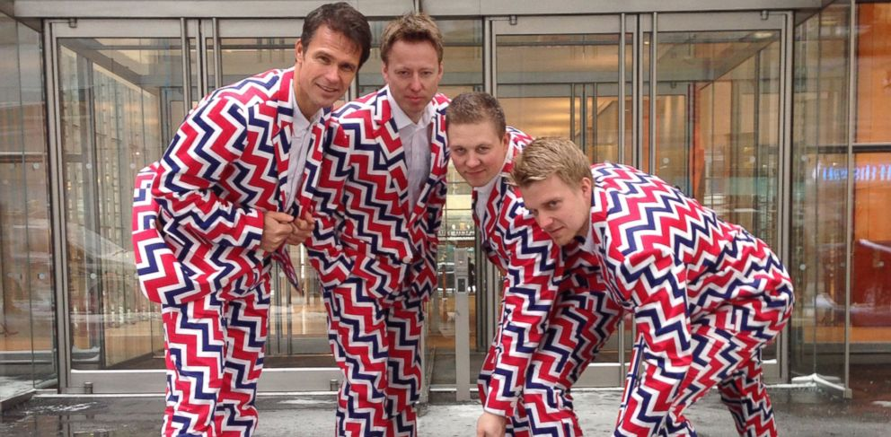 PHOTO: Norway Curlers Thomas Ulsrud, Torgor Nergard, Christoffer Svae, and Havard Vad Petersson