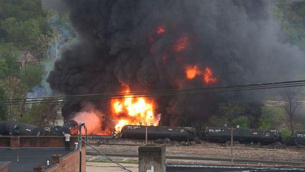 AP train fire kab 140501 16x9 608 CSX Rail Car Accident Sparks Calls for Reform