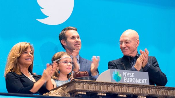 AP twitter ipo nyse sir patrick stewart sk 131107 16x9 608 Smooth Day for Twitter IPO as TWTR Closes at $44.90