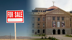 Photo: desperate states sell property
