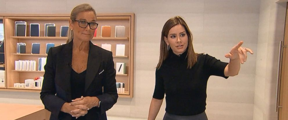 PHOTO: Apple Senior Vice President of Retail Angela Ahrendts gives Rebecca Jarvis an exclusive tour of Apples new Michigan Avenue store in Chicago.