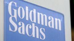 PHOTO: A file photo dated Jan. 19, 2011 showing a view of a sign at the Goldman Sachs booth on the floor of the New York Stock Exchange in New York City.