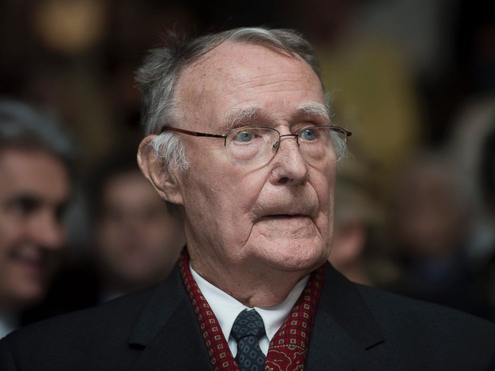 PHOTO: Ingvar Kamprad, Founder of IKEA, is pictured on the inauguration of the Margaretha Kamprad Chair of Environmental Science and Limnology of the Swiss Federal Institute of Technology of Lausanne (EPFL), in Lausanne, Switzerland, Dec. 3, 2012.