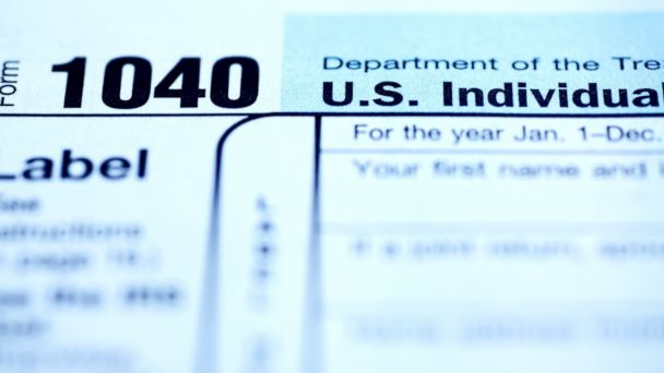 PHOTO: Close up of the 1040 income tax form is pictured in this undated photo.