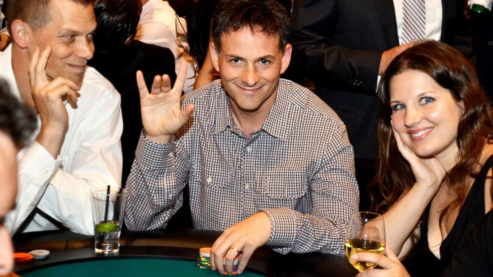 PHOTO: PHOTO: David Einhorn, center, president of Greenlight Capital Inc., attended the fourth annual Take Em To School Poker Tournament in New York, U.S