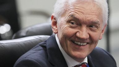 PHOTO: Russian businessman and billionaire, an oil trader Gennady Timchenko during the openings of the 2013 IIHF U18 World Junior Championship, April 18, 2013 in Sochi, Russia.