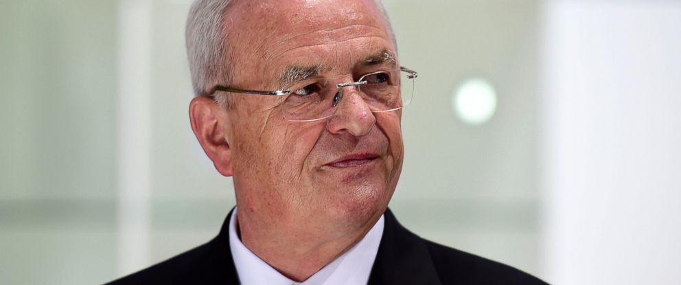 PHOTO: Volkswagen Group CEO Martin Winterkorn arrives for the Volkswagen annual general shareholders meeting, May 5, 2015, in Hanover, Germany.