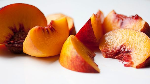 PHOTO: An image of sliced peaches.