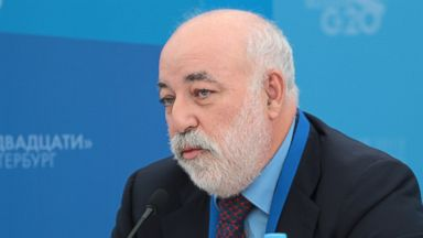 "PHOTO: President of the Skolkovo Foundation Viktor Vekselberg attends the briefing ""The outcomes of the G20 Leaderss meeting with the social partners. The work of the Business 20 and Labour 20 within the Russian Presidency."