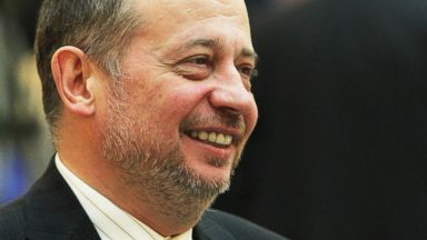 PHOTO: Russian billionaire and businessman Vladimir Lisin attends a meeting of top Russian and Spanish business leaders, Feb. 25, 2011 in St. Petersburg, Russia.