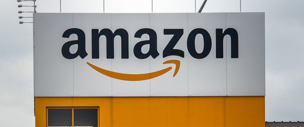 PHOTO: An Amazon logo is pictured on April 11, 2015 in Lauwin-Planque, France.