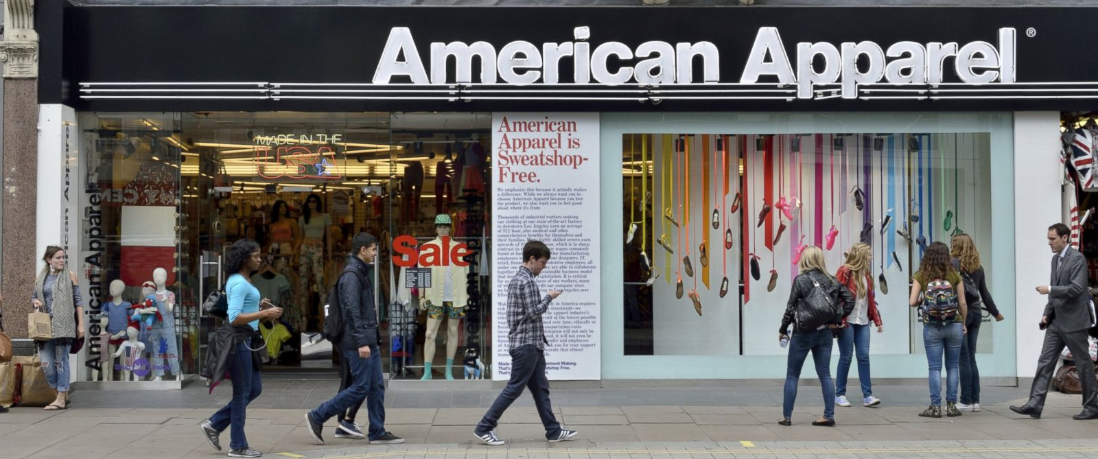 PHOTO: American Apparel fashion shop.