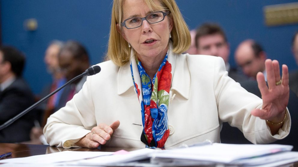 PHOTO: Anne Ferro, administrator of the Federal Motor Carrier Safety Administration, speaks during a House Small Business Subcommittee hearing in Washington, on Nov. 21, 2013.