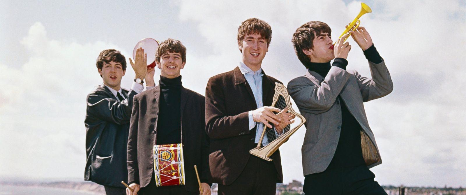 PHOTO: Paul McCartney, Ringo Starr, John Lennon and George Harrison in England in 1964.