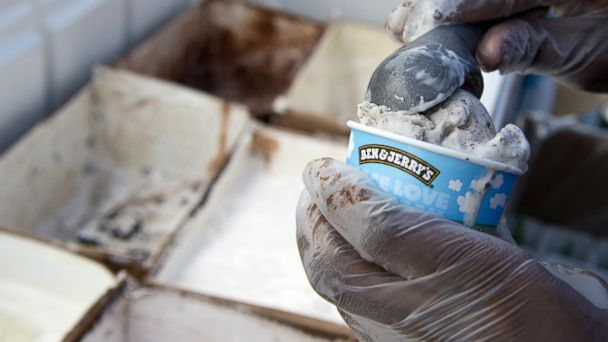 PHOTO: An employee of Ben & Jerrys scoops ice cream into a cone outside Union Station in Washington, June 18, 2013.