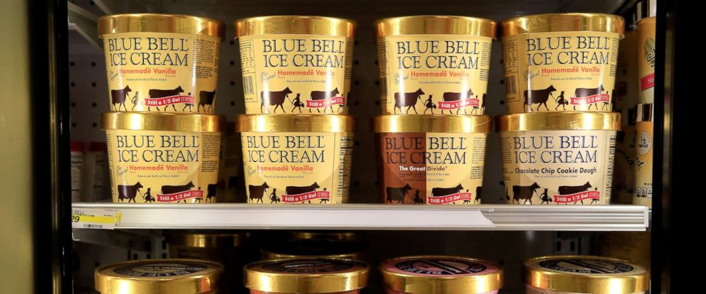 PHOTO: Blue Bell ice cream is pictured on April 21, 2015 in Overland Park, Kan.