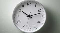PHOTO: A clock is pictured in this stock image.