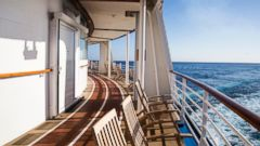 PHOTO: Deck of Cruise ship at sea.