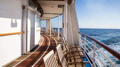 PHOTO: Deck of Cruise ship at sea.